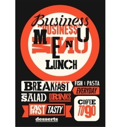 Restaurant business menu typographic design vector