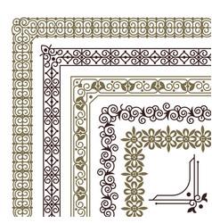 Seamless corners filigree flourish ornament vector