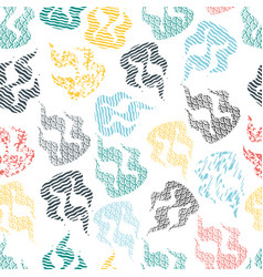 seamless pattern of abstract flames vector image
