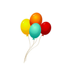 set thread colorful balloons for city circus vector image