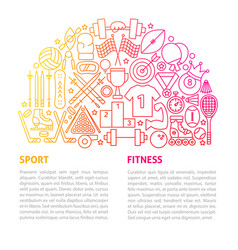 sport fitness line template vector image