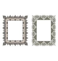 Square elegant frame vector