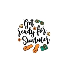 summer background with text vector image