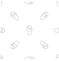 sweet ice cream pattern seamless vector image
