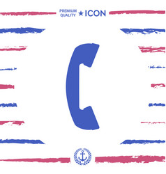 telephone handset telephone receiver symbol vector image