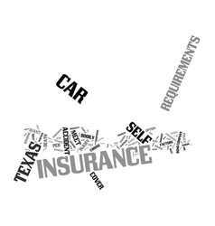 Texas car insurance requirements text background vector