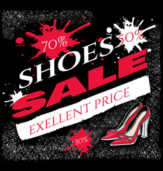 text shoes sale exellent price with vector image
