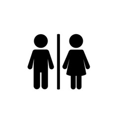 toilet flat icon vector image