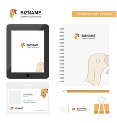 turkey business logo tab app diary pvc employee vector image