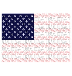 united states america text flag vector image