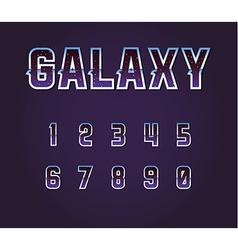 Universe 80s Retro Sci-Fi Font Alphabet vector image