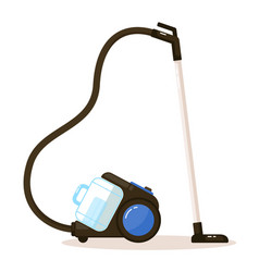 Vacuum cleaner with cyclone reservoir and filter vector