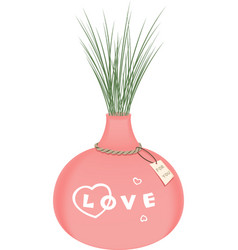 Vase of love vector