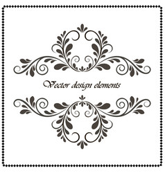 vintage decorative element calligraphic frame vector image