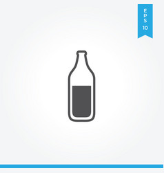 wine bottle icon simple car sign vector image