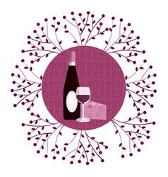 wine round symbol vector image