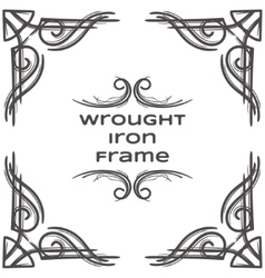 Wrought Iron Frame Seven vector