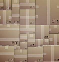 background for delivery Cardboard packs vector image