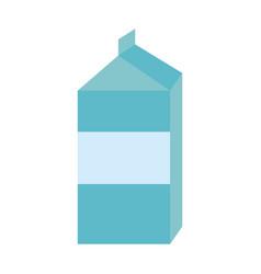 blank label milk carton icon image vector image