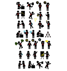 Business Pictogram Icons vector image