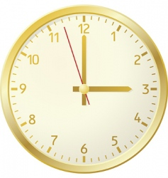 gold clock vector image vector image