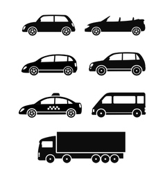 isolated cars set vector image vector image