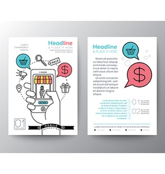 Online shopping Brochure Flyer Layout template vector image vector image