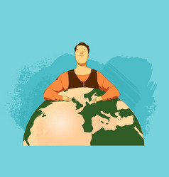 thinking about the future of the world vector image
