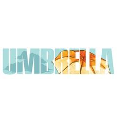 Umbrella sign vector image