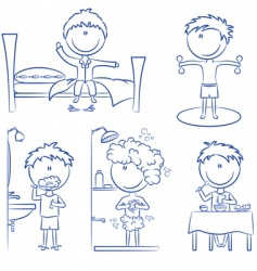 daily morning boy's life vector image vector image