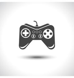 Gambling games joystick black reflection icon vector image vector image