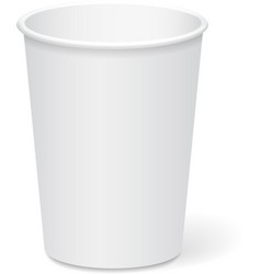 White paper cup template for coffee or tea to take vector