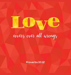 bible verse love covers vector image vector image