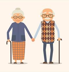 grandparents image of happy couple in cartoon vector image
