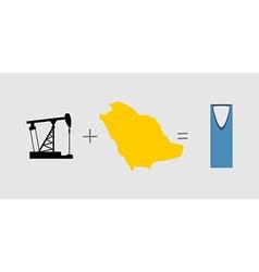 Oil rig and map Symbols of Saudi Arabia vector image