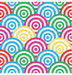 spiral and circles seamless pattern vector image vector image