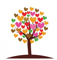 valentines tree background vector illustration vector image vector image
