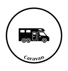 Camping family caravan icon vector image