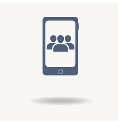 conference call concept User Profile Group Icon vector image