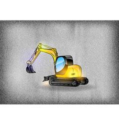 construction grey texture excavator vector image