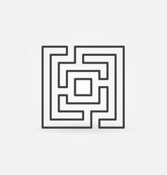 labyrinth or maze icon vector image vector image