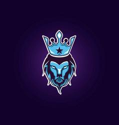 lions head logo vector image