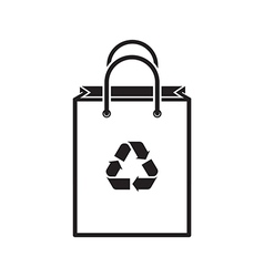Shopping Bag Silhouette vector image vector image