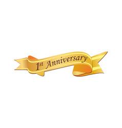 1st anniversary logo vector image
