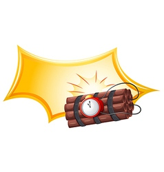 A bomb with a timer vector image