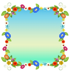 A floral empty template vector