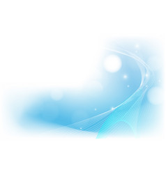abstract blue and white wavy light background vector image