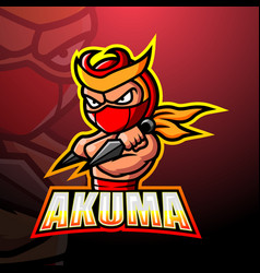 Akuma mascot esport logo design vector