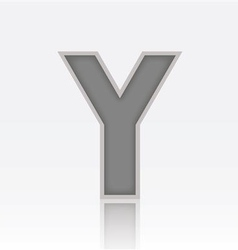 Alphabet Y vector image