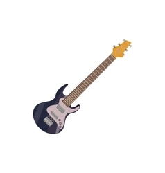 Black electric guitar icon cartoon style vector image